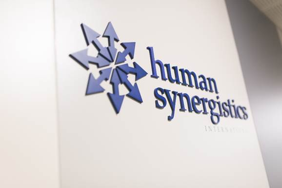 HS logo on wall