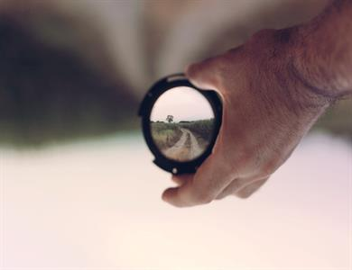 looking through lenses