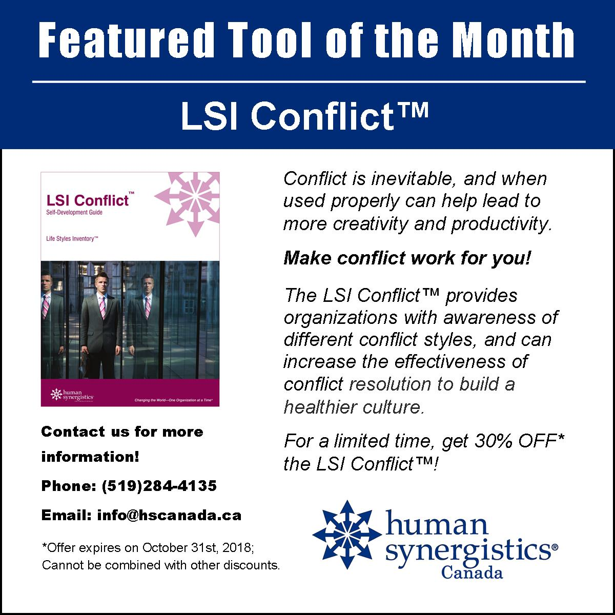LSI Conflict October promo