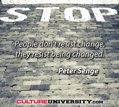 Cultural transformation only comes with personal transformation