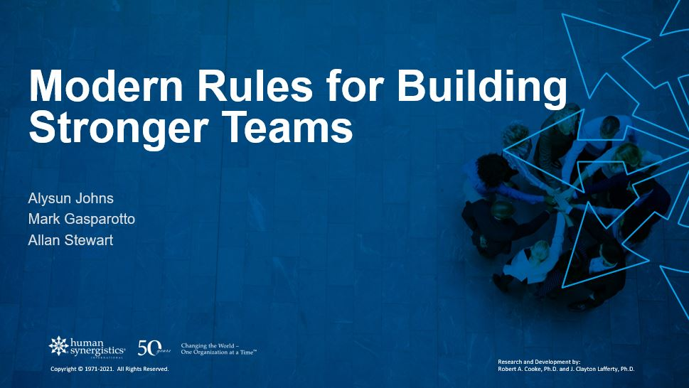modern rules for building stronger teams