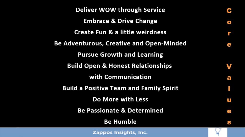 Zappos Wow Service