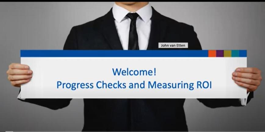 Webinar-Progress Check